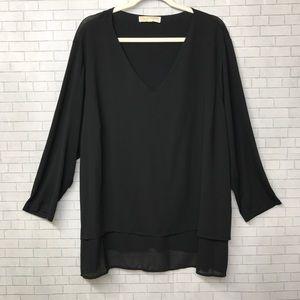 Michael Kors Black Blouse SZ XL